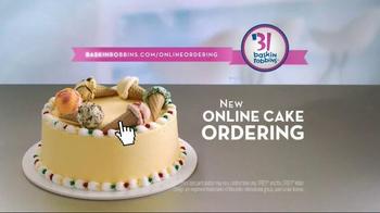 Baskin-Robbins TV Spot, 'Online Cake Ordering'