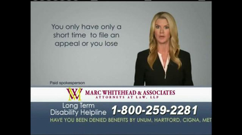 Marc Whitehead & Associates, LLP TV Spot - Thumbnail 3