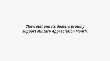 Chevrolet TV Spot, 'Military Appreciation Month' - Thumbnail 8