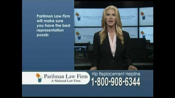 Parilman Law Firm TV Spot, 'Hip Replacement' - Thumbnail 8