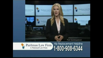 Parilman Law Firm TV Spot, 'Hip Replacement' - Thumbnail 2