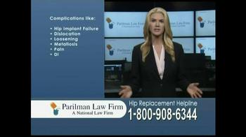 Parilman Law Firm TV Spot, 'Hip Replacement' - Thumbnail 3