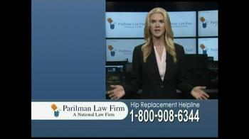 Parilman Law Firm TV Spot, 'Hip Replacement' - Thumbnail 4