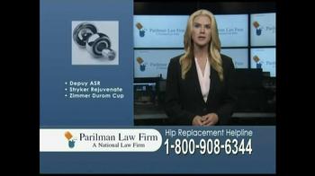 Parilman Law Firm TV Spot, 'Hip Replacement' - Thumbnail 5