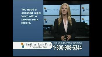 Parilman Law Firm TV Spot, 'Hip Replacement' - Thumbnail 7