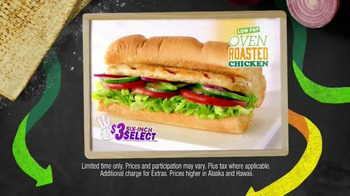 Subway Oven Roasted Chicken TV Spot, 'May $3 Select' - Thumbnail 3