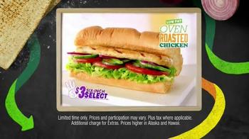 Subway Oven Roasted Chicken TV Spot, 'May $3 Select' - Thumbnail 4