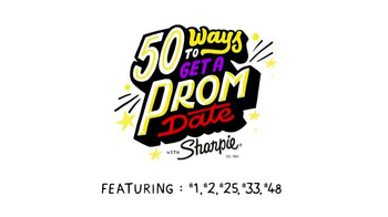 Sharpie TV Spot, \'50 Ways to Get a Prom Date\'
