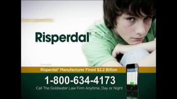 Goldwater Law Firm TV Spot 'Risperdal'