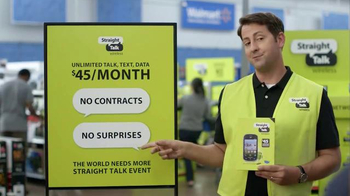 Straight Talk Wireless TV Spot, 'The World Needs More Straight Talk Event' - 829 commercial airings