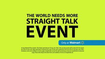 Straight Talk Wireless TV Spot, 'The World Needs More Straight Talk Event' - Thumbnail 6