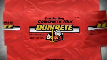 QUIKRETE TV Spot for Fast-Setting Concrete Mix - Thumbnail 1