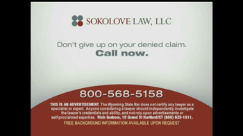 Sokolove Law, LLC TV Spot for Denied Disability Pay - Thumbnail 10