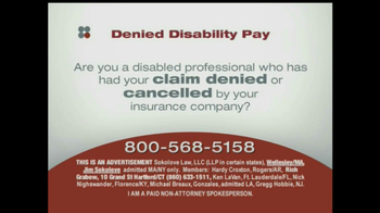 Sokolove Law, LLC TV Spot for Denied Disability Pay - Thumbnail 2