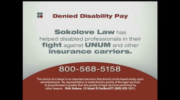 Sokolove Law, LLC TV Spot for Denied Disability Pay - Thumbnail 5