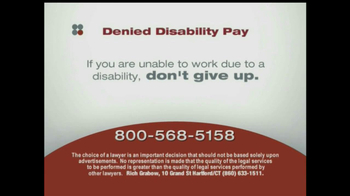 Sokolove Law, LLC TV Spot for Denied Disability Pay - Thumbnail 6