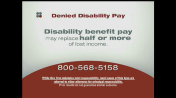 Sokolove Law, LLC TV Spot for Denied Disability Pay - Thumbnail 8