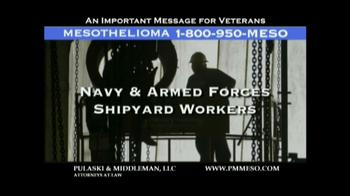 Pulaski & Middleman TV Spot Mesothelioma and Veterans  - Thumbnail 4