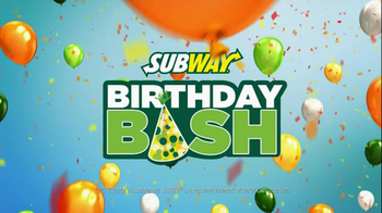 Subway Birthday Bash TV Spot - Thumbnail 3