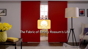 Cotton TV Spot, 'The Fabric of Emmy Rossum's Life' - Thumbnail 1