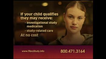 Juvenile Fibromyalgia Fibro Study TV Spot - Thumbnail 5