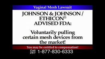 Lee Murphy Law TV Spot for Mesh Lawsuit