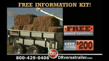 DR Power Equipment TV Spot for Versa Trailer