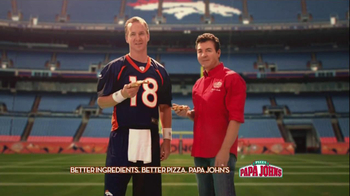 Papa John's TV Spot, '2 Million Free Pizzas' Featuring Peyton Manning