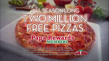 Papa John's TV Spot, '2 Million Free Pizzas' Featuring Peyton Manning - Thumbnail 7