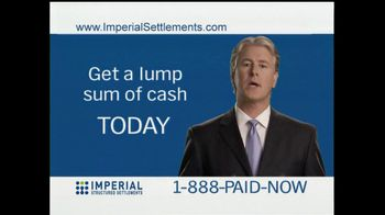 Imperial Structured Settlements TV Spot for Paid Over Many Years