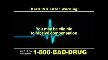 Pulaski & Middleman, L.L.C, Attorneys TV Spot for Bard IVC Filters