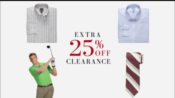 JoS. A. Bank TV Spot for 25% Clearance, Now $18.74 - 13 commercial airings