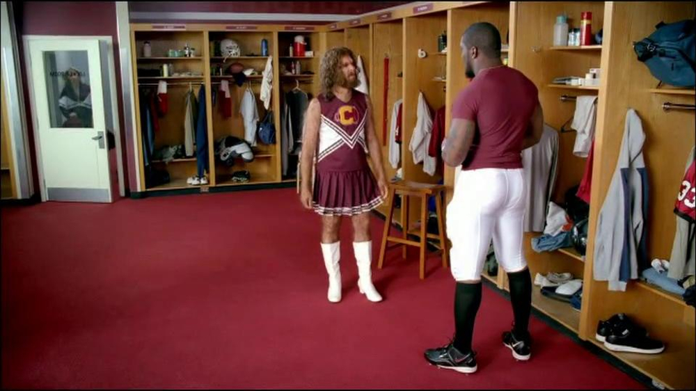 GEICO TV Commercial, 'Cheerleader Caveman' Featuring Brian Orakpo
