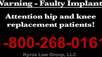 Kyros Law Group TV Spot, \'Faulty Implants\'
