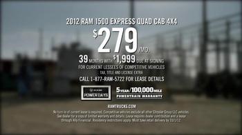 2012 RAM 1500 TV Spot, 'One Thing Well' - Thumbnail 9