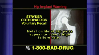Pulaski & Middleman TV Spot 'Stryker Orthopedics Voluntary Recall' - Thumbnail 2