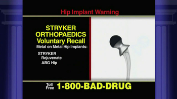 Pulaski & Middleman TV Spot 'Stryker Orthopedics Voluntary Recall' - Thumbnail 3