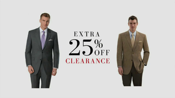 JoS. A. Bank TV Spot for 25% Clearance - 4 commercial airings