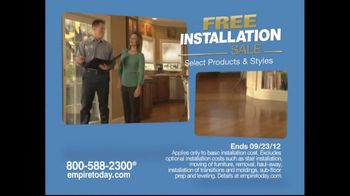 Empire Today TV Spot for Free-Installation Sale
