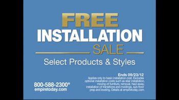 Empire Today TV Spot for Free-Installation Sale - Thumbnail 1