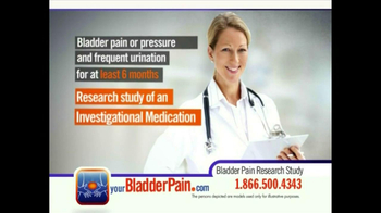 Bladder Pain Research Study TV Spot for Women - Thumbnail 6