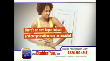 Bladder Pain Research Study TV Spot for Women - Thumbnail 7