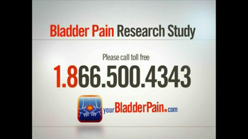 Bladder Pain Research Study TV Spot for Women - Thumbnail 8