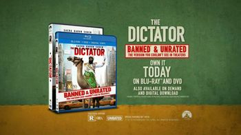 The Dictator Blu-Ray and DVD TV Spot, 'First Time Ever' - 185 commercial airings