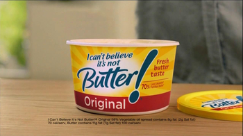 I Can't Believe It's Not Butter TV Spot, 'Cheat on Butter' - Thumbnail 8