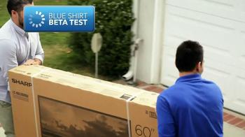 Best Buy TV Spot, 'Blue Shirt Beta Test: Sharp HDTV' - Thumbnail 1