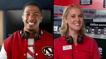 Office Depot TV Spot, 'Depot Time:Monster Headphones' Featuring Nick Cannon