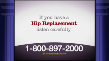 Goldwater Law Firm TV Spot, 'Stryker Rejuvenate Hip Implants' - Thumbnail 1