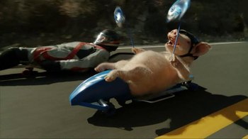 GEICO TV Spot, 'Maxwell the Pig: Street Luge' - 2 commercial airings