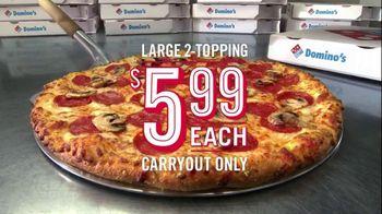 Domino's Large Two-Topping Pizza TV Spot, 'Fastest Box Folder' - Thumbnail 5